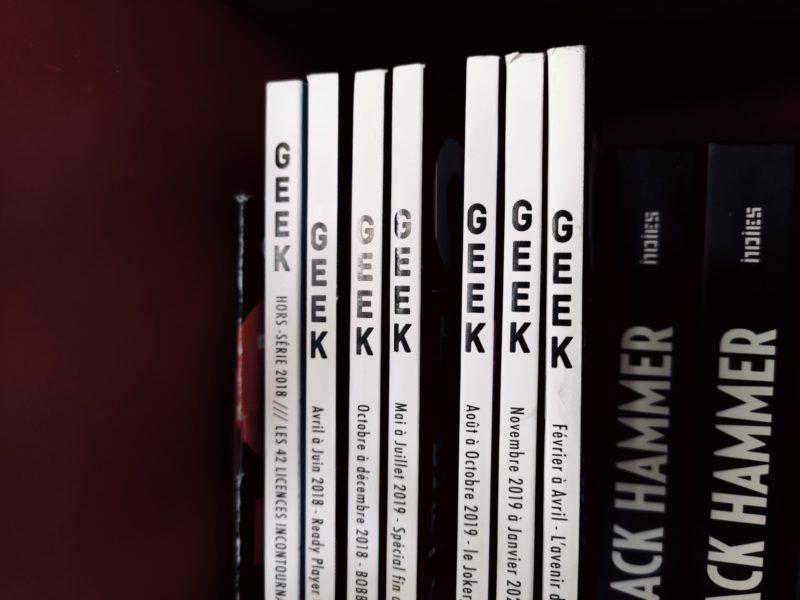 Mise à disposition des anciens numéros de GEEK magazine, on continue !