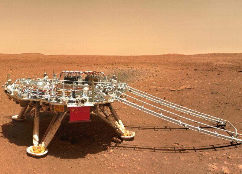 le premier selfie sur Mars